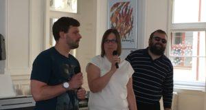 Photo with Rebecka speech